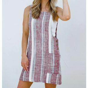 VICI linen berry breeze dress
